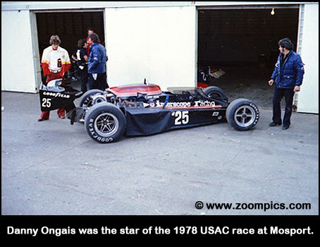 Danny Ongais was the star of the 1978 USAC race at Mosport.