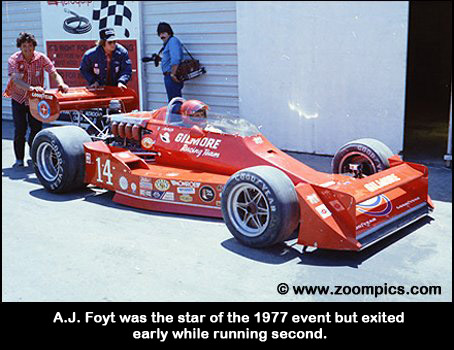 A.J. Foyt won the 1977 event but was an early retirement in 1978.